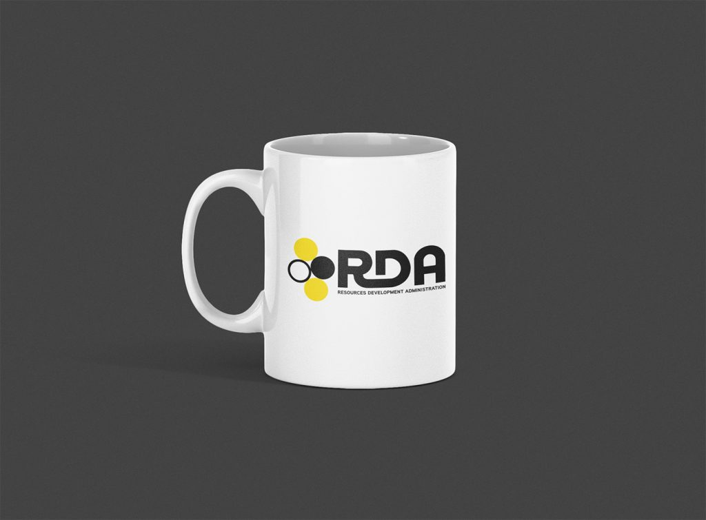 RDA Resources Development Administration Logo Mug