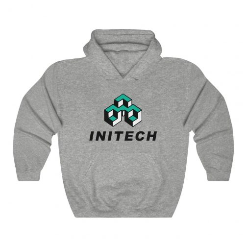 INITECH Logo Hoodie - Grey