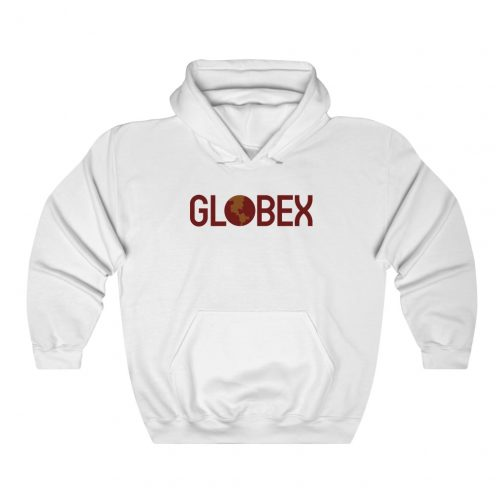 GLOBEX Corporation Logo Hoodie - White