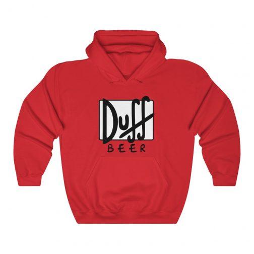 Duff Beer Logo Hoodie - Red