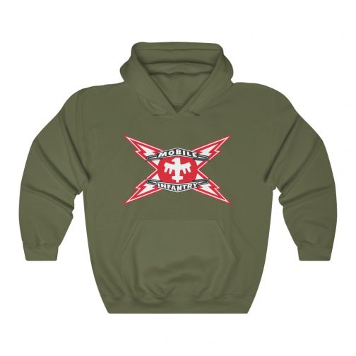 Mobile Infantry Logo Hoodie - Military Green