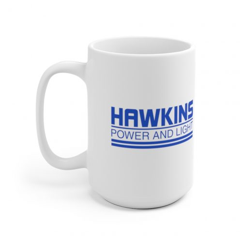Hawkins Power and Light Logo Cup