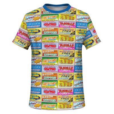 Idiocracy Branded Logos Unisex T-Shirt - Front View