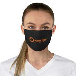 Aperture Laboratories Orange Fabric Face Mask