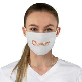 Aperture Laboratories [Orange] Fabric Face Mask | White