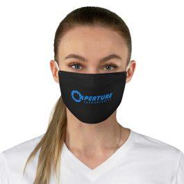Aperture Laboratories [Blue] Fabric Face Mask | Black