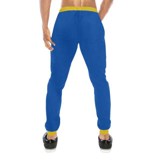 Vault Boy Vault Suit Cosplay Sweatpants - Rear View