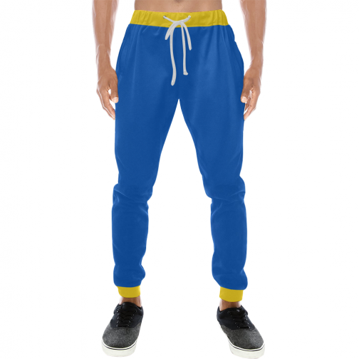 Vault Boy Vault Suit Cosplay Sweatpants - Front View