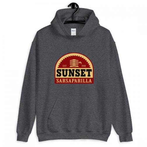 Sunset Sarsaparilla Hoodie - Dark Grey