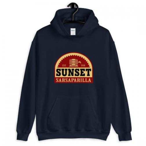 Sunset Sarsaparilla Hoodie - Navy