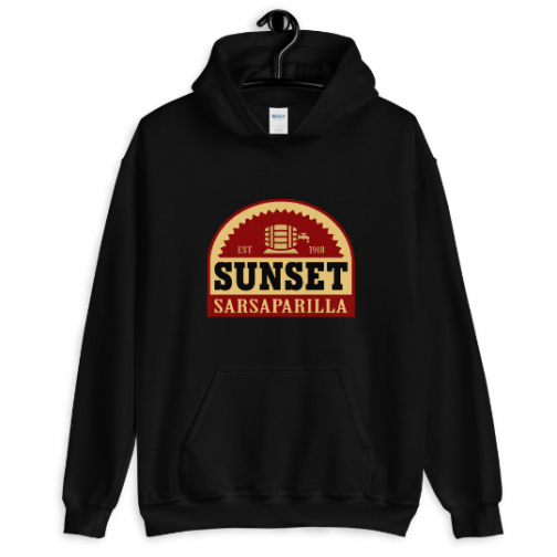 Sunset Sarsaparilla Hoodie - Black