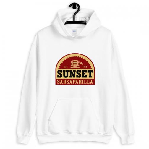 Sunset Sarsaparilla Hoodie - White