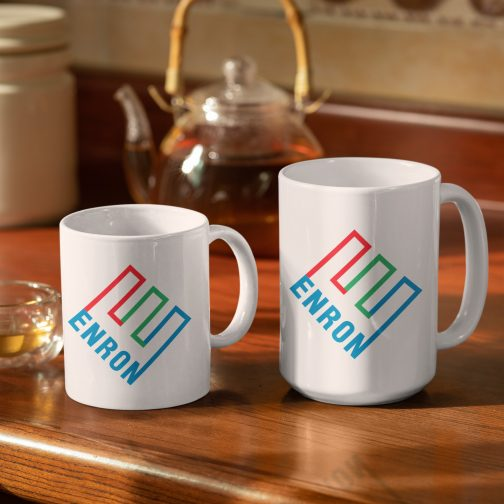 Enron logo mug and cup