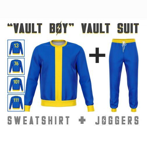 Fallout Vault Boy Vault Suit Costume