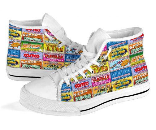 Idiocracy Shoes   Idiocracy Canvas High Tops
