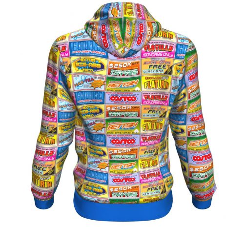 Idiocracy All-Over Branded Logo Hoodie - Rear View