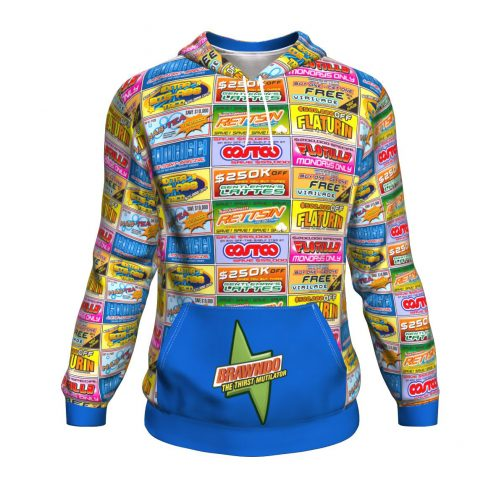 Idiocracy All-Over Branded Logo Print Hoodie