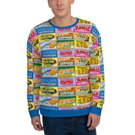 Idiocracy Branded All-Over Logo Sweatshirt