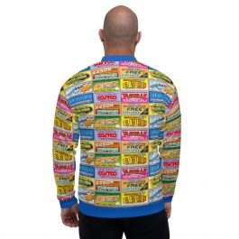 Idiocracy All-Over Branded Logos Unisex Bomber Jacket