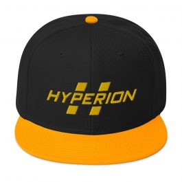 Hyperion Gold and Black Snapback Hat
