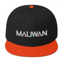 MALIWAN Black/Orange Snapback Cap